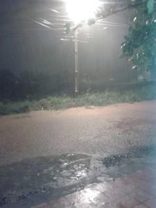 Calles llenas de agua