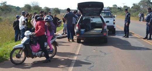 "El accidente ocurrió en la altura del km 10 de la ruta V ""Gral. Bernardino Caballero"""