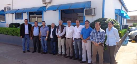 Empresarios con autoridades en el Frigorífico Concepción/Foto Gentileza