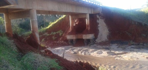 Puente sobre la ruta III. / Foto Genitleza