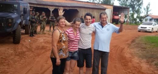 La familia Fick vivió días duros con el secuestro de Arlan