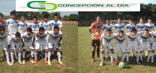 FOTO: Plantel de Concepción sub 15 y sub 19, que disputó el cotejo de ida ante luqueña