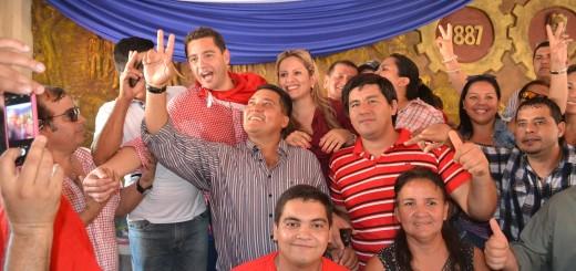 Colorados de San Lázaro con Alliana.