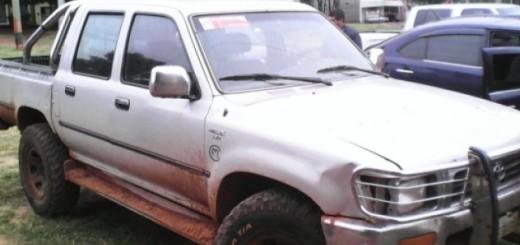 Una de las víctimas se encontraba en este vehículo de la marca Toyota. Foto: Carlos Escobar