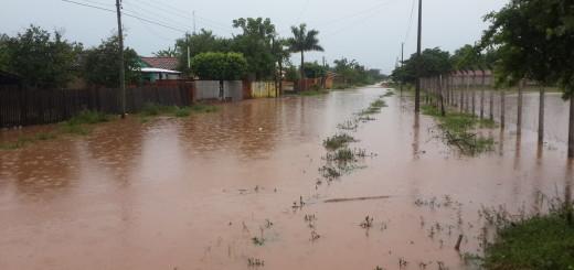 Una situación que se repite con cada lluvia/Foto:Joel Riveros