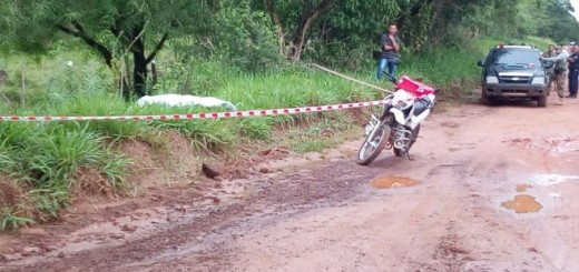 Hallan cadáver de un hombre en Yby Yaú. Foto: Carlos Escobar.