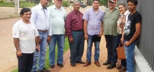 Miembros de los medios comunitarios que conformaron la comisión.