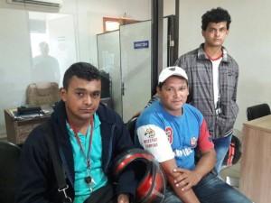 A más de la denuncia formal, visitaron los medios de comunicación. Foto gentileza Radio Regional