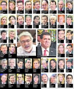 Los 44 violadores de la constitución Nacional, según ABC. (Foto ABC)
