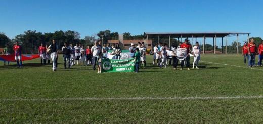 Inauguración del torneo oficial (Horqueta)