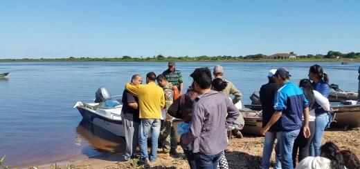 Cuerpo resctado por Humberto Albertini de López en el Puerto de la ciudad