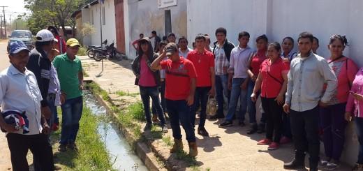 Familiares y vecinos defienden a joven detenido en Concepción. Foto: Justiniano Riveros.
