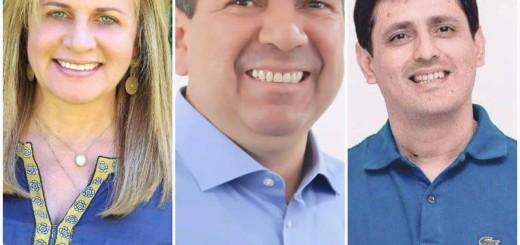 En Concepción. Beatriz Denis, Édgar López y Carlos Galiano son precandidatos en el PLRA para la gobernación.