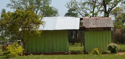 Los recursos familiares dieron solo para una parte del techo.