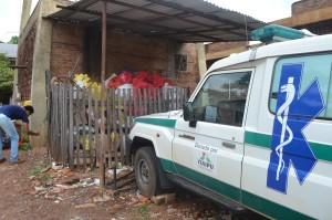 Precario lugar. En un corral se juntan las basuras patológicas mientras esperan que pase el recolector de basura.