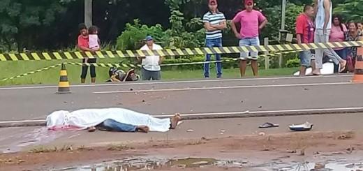 La victima tendida en el suelo- Foto  CIC