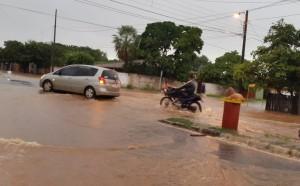 La Avda. Boquerón fue totalmente inundado