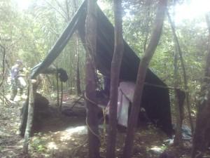 El campamento que fue hallado por los intervinientes