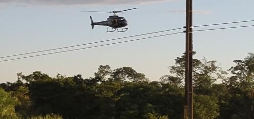 Desde los helicópteros  hubo varios disparos