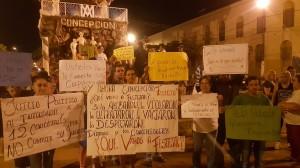 Reclamo. La protesta realizada por vecinos de Concepción.