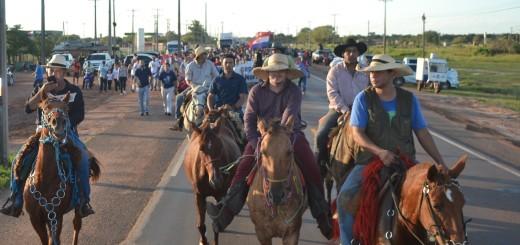 Los jinetes también se unieron a la marcha