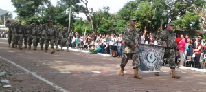 Los reservistas dieron los pasos marciales al desfile
