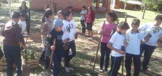 Escolares en pleno cultivo