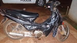 La motocicleta recuperada