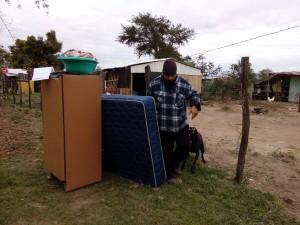 El dueño logro recuperar sus objetos gracias a la policía