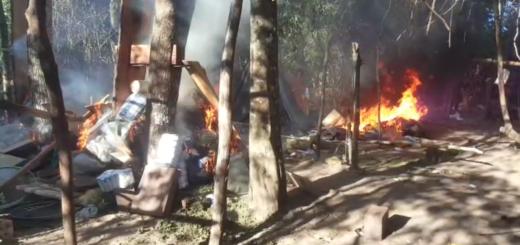 La droga y los campamentos fueron incinerados