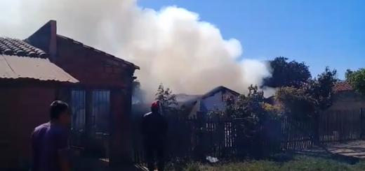 El fuego consumió totalmente la vivienda