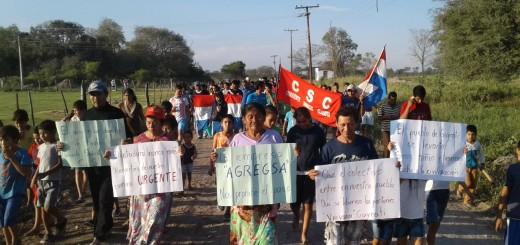 Pobladores realizaron días pasados una manifestación