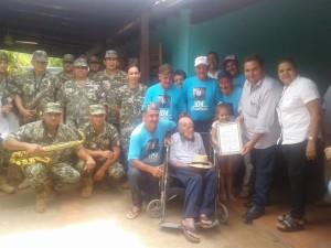 El Ex combatiente cumpió 105 años/ Foto Gentileza