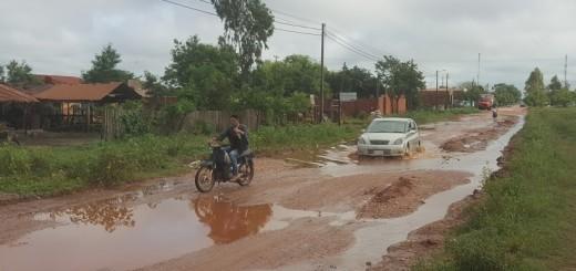 Tras cada lluvia, así queda la Avda. de Pinedo