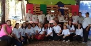 21 de los 22 hijos vivientes participaron en el festejo