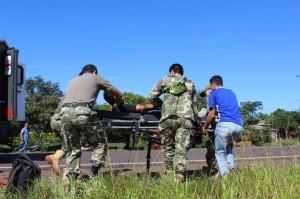 Las víctimas fueron auxiliadas por uniformados militares