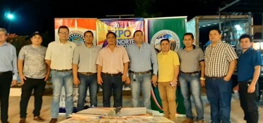 Autoridades de Yby Ya´u y organizadores de la Expo Norte (Foto gentileza)