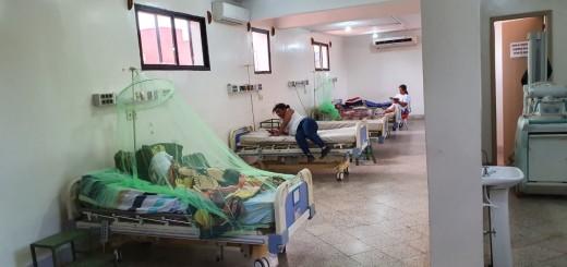 Nada abastece en los hospitales. Vista de la sala de IPS
