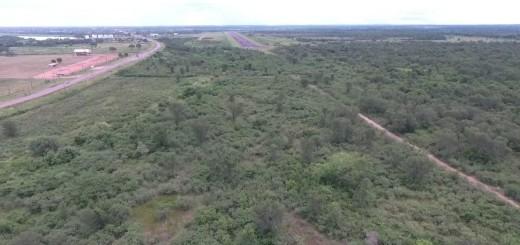 Tierras embargadas. Vista aérea de las tierras cedidas por la Comuna para ampliar el aeropuerto militar en Concepción.