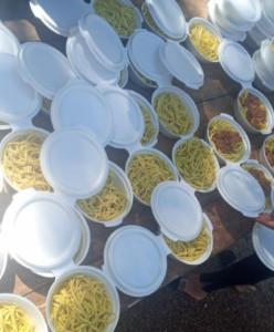 Los alimentos que fueron repartidos a las familias
