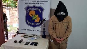 El hombre detenido tenía una granada en su poder